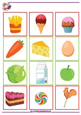 Страницы из тематического комплекта развивающих заданий «Здоровое питание» 2