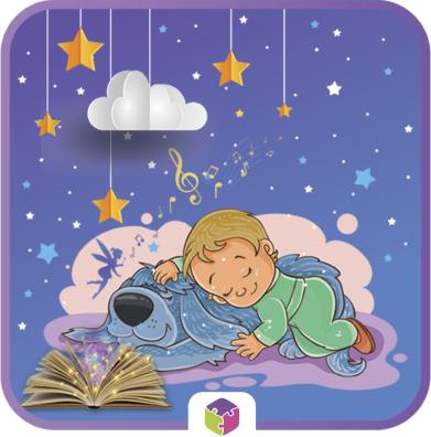 Ребенок с собачкой и книгой.