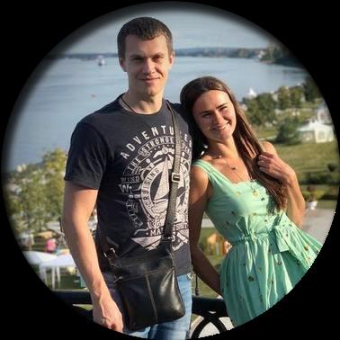 Фото счастливой пары.