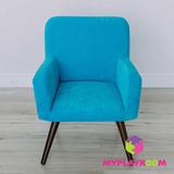 Детское мягкое кресло в стиле 60-х, бирюзовый 3