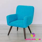 Детское мягкое кресло в стиле 60-х, бирюзовый 1