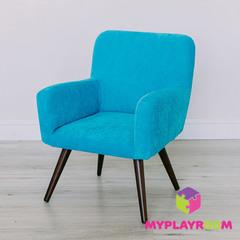 Детское мягкое кресло в стиле 60-х, бирюзовый