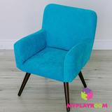 Детское мягкое кресло в стиле 60-х, бирюзовый 6