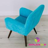 Детское мягкое кресло в стиле 60-х, бирюзовый 5