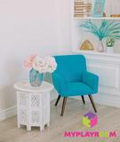 Детское мягкое кресло в стиле 60-х, бирюзовый 4