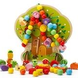 Развивающая игрушка Шнуровка дерево «Дом зверят», 102 элемента 2