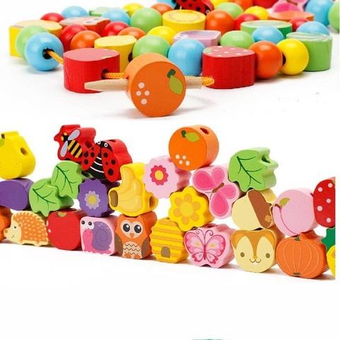Развивающая игрушка Шнуровка дерево «Дом зверят», 102 элемента 3