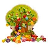 Развивающая игрушка Шнуровка дерево «Дом зверят», 102 элемента 1