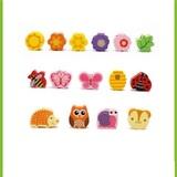 Развивающая игрушка Шнуровка дерево «Дом зверят», 102 элемента 5