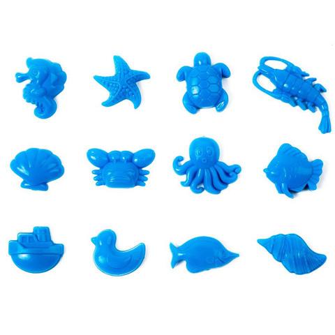 """Набор формочек для песка """"Морские животные"""", 12 шт"""