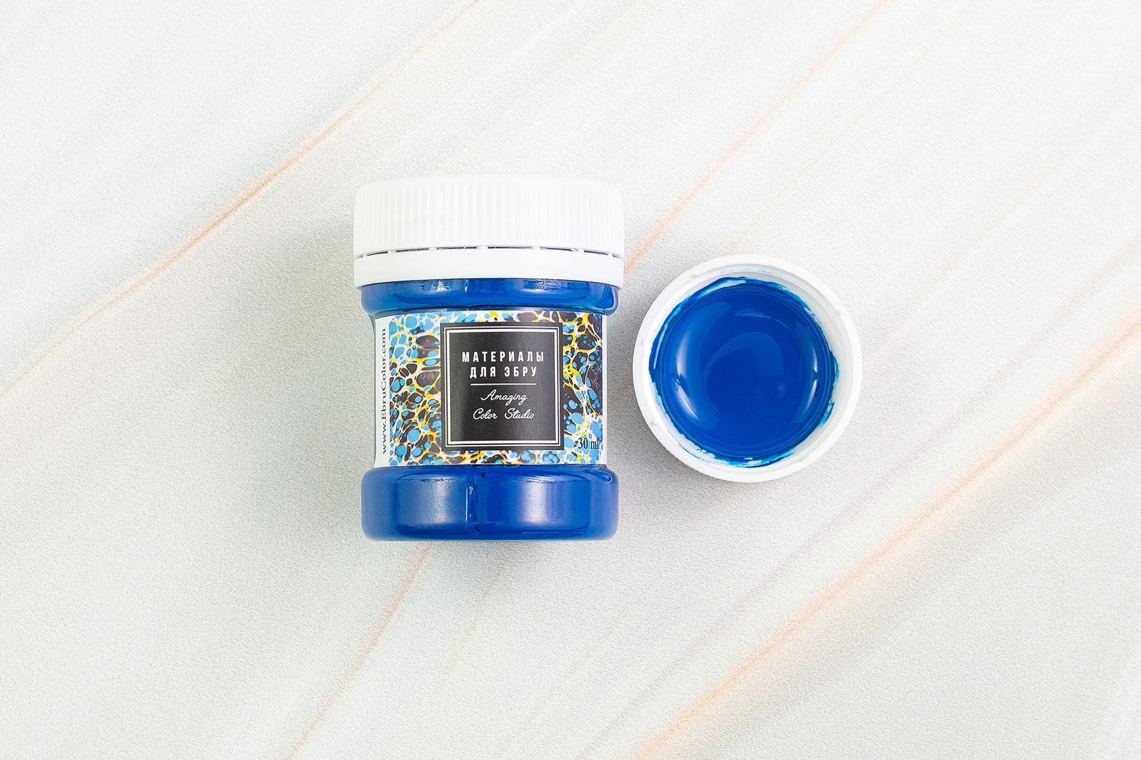 Краска для Эбру синяя