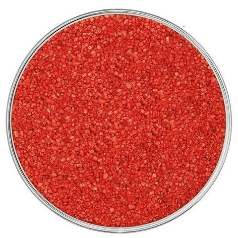 Кварцевый цветной песок, красный