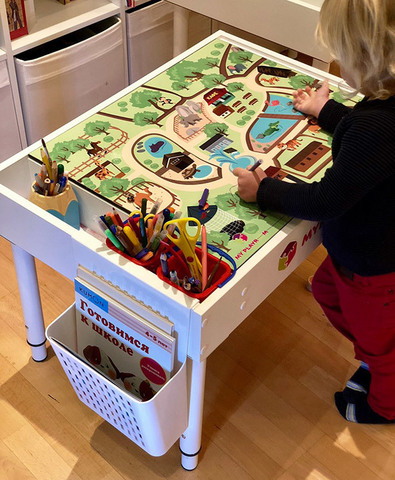Подвесной органайзер на стол-песочницу для альбома и пособий 3