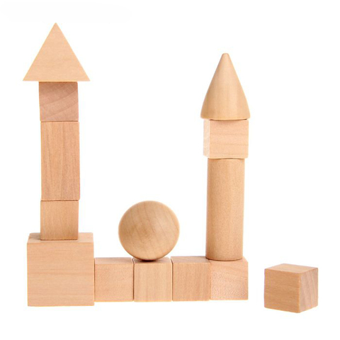 Геометрические фигуры из дерева, 14 предметов 2