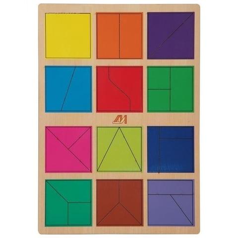 """Головоломка """"Сложи квадрат, 1 уровень"""""""