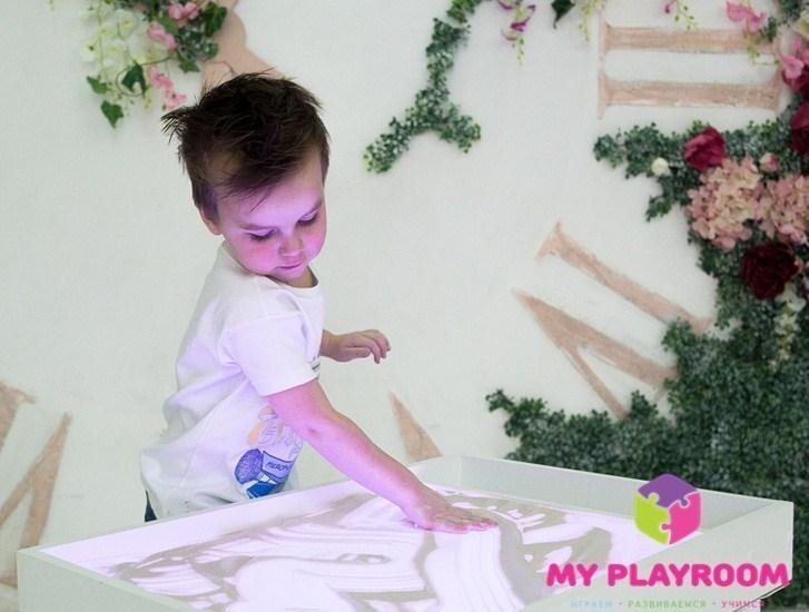 Стол для рисования песком на стекле Myplayroom