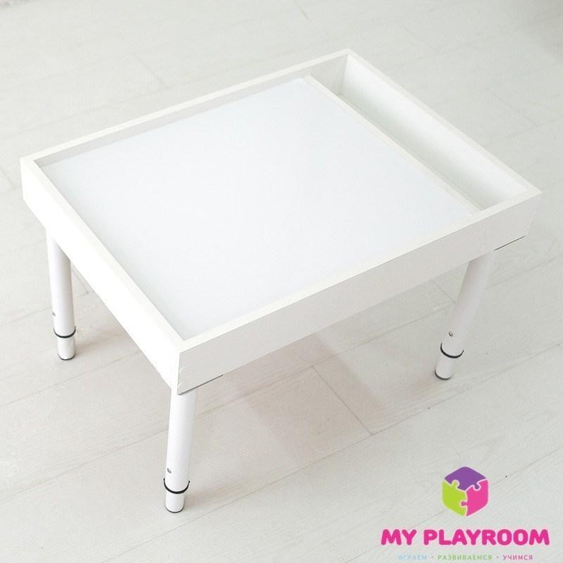 стол ящик для рисования песком на стекле Myplayroom