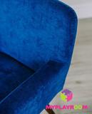 Детское мягкое кресло в стиле 60-х, глубокий синий 4
