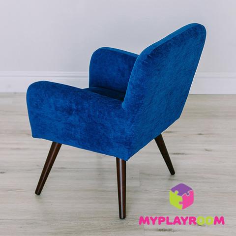 Детское мягкое кресло в стиле 60-х, глубокий синий 6