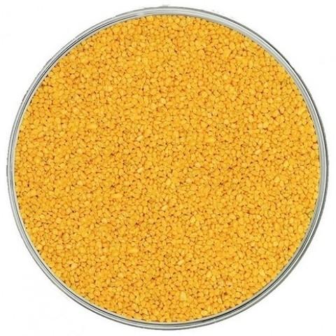 Кварцевый цветной песок, желтый