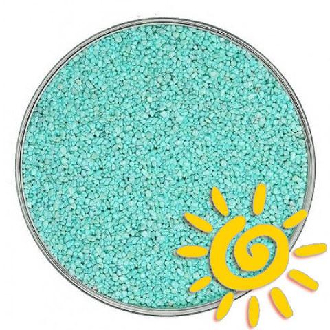 Кварцевый цветной песок (для рисования), бирюзовый