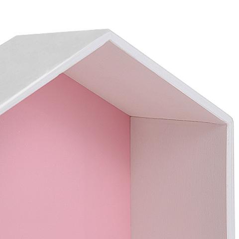 Полка-домик, розовая