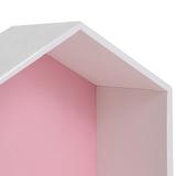 Полочка-домик для книг и игрушек, розовая 3