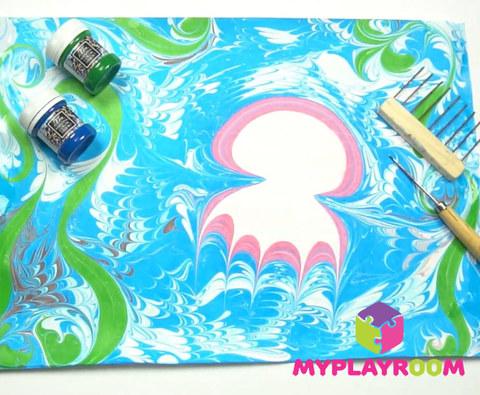 Уроки рисования на воде - Эбру 4