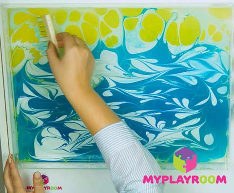 Уроки рисования на воде - Эбру 7