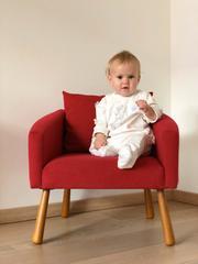Детское мягкое кресло, красное