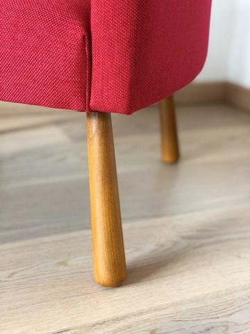 Детское мягкое кресло, красное 4