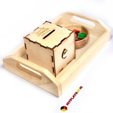 Деревянный поднос для игр и пособий 5