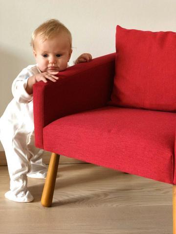 Детское мягкое кресло, красное 5