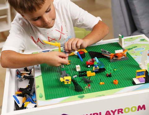 Световая песочница для LEGO от MYPLAYROOM™ с длинной столешницей 7в1 3