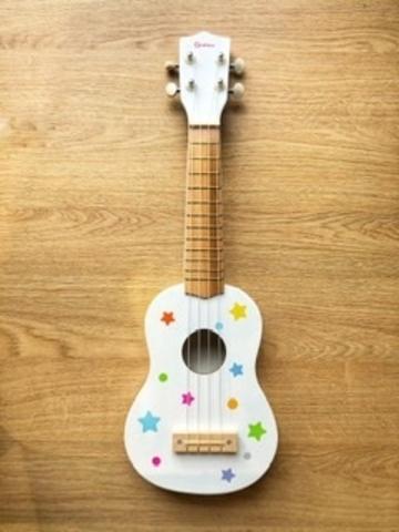 Детская музыкальная игрушка гитара укулеле 1+ 2