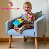 Детское мягкое кресло, голубое 2