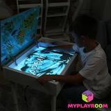 Световая песочница для LEGO от MYPLAYROOM™ с длинной столешницей 7в1 13