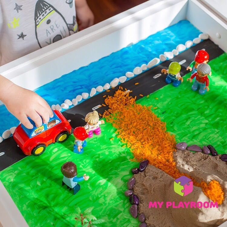 LEGO платформа на световом столе песочнице Myplayroom