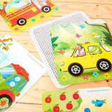 Монтессори мозаика с карточками «Транспорт», 160 деталей 3