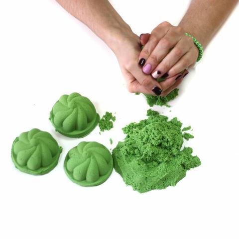Космический песок 2 кг, зеленый 3