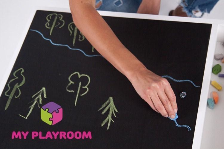 Рисунки на меловой доске светового стола Myplayroom