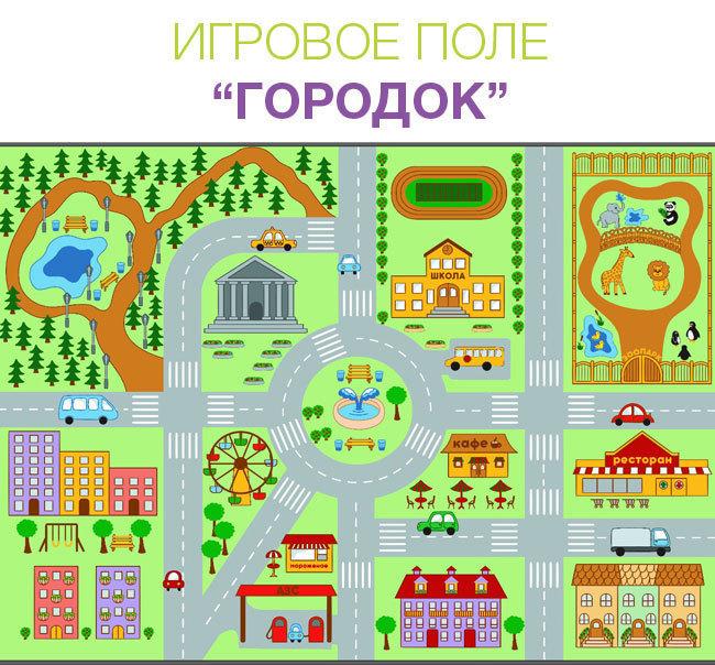 Дизайн столика Крышка Городок: абсолютный хит среди Myplayroom.ru