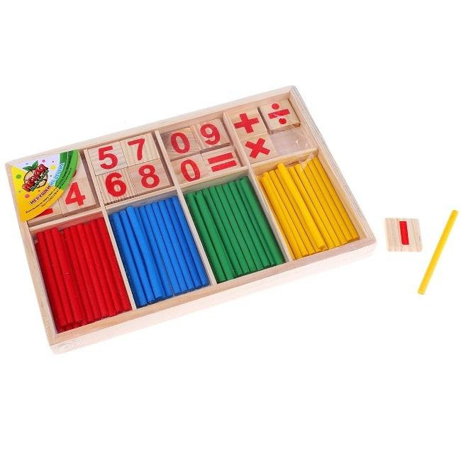 Набор счётных палочек, цифр и знаков, 72 элемента