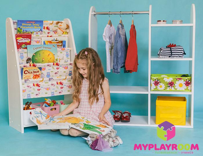 Детский гардероб и полочка для книг