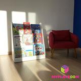 Детская полка для книг вместительная витрина по Монтессори 2