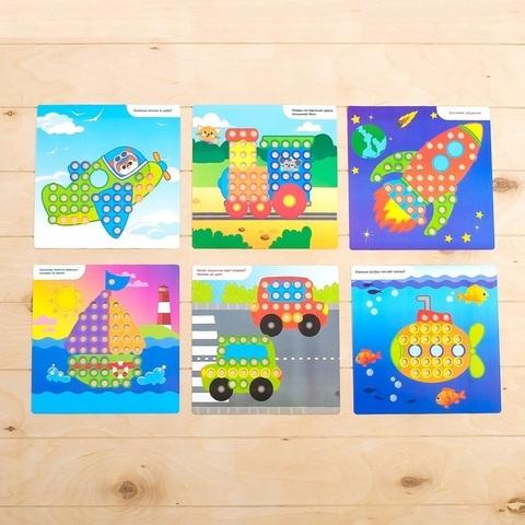 Весёлая мозаика с карточками «Транспорт» 3
