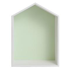Полочка-домик для книг и игрушек, зеленая