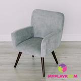 Детское мягкое кресло в стиле 60-х, дымчатый 1