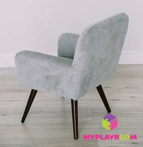 Детское мягкое кресло в стиле 60-х, дымчатый 4