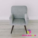 Детское мягкое кресло в стиле 60-х, дымчатый 3
